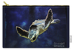 Carry-all Pouch featuring the photograph  Sea Turtle by Savannah Gibbs