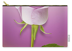 Single Lilac Rose Carry-all Pouch