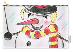 Snowmans  Stardom Carry-all Pouch by Teresa White