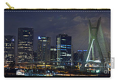 Supermoon In Sao Paulo - Brazil Skyline Carry-all Pouch