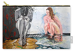 Carry-all Pouch featuring the painting  The Drizzle Of The States El Escurrir De Los Estados by Lazaro Hurtado