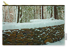 Carry-all Pouch featuring the photograph  The Snow Fort by Bruce Carpenter