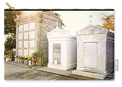 Carry-all Pouch featuring the photograph   Tombstones  by Erika Weber