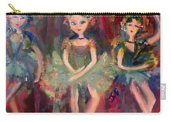 Carry-all Pouch featuring the painting  Victorian Christmas Ballet by Judith Desrosiers