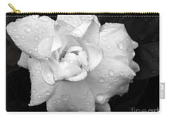 Carry-all Pouch featuring the photograph  White Drops by Michelle Meenawong
