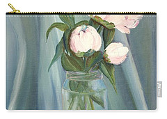 White Flower Purity Carry-all Pouch