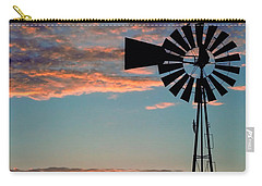 Windmill At Dawn Carry-all Pouch by David and Carol Kelly