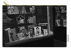 Carry-all Pouch featuring the photograph  Window Display Night Of Elvis Presley's Death Recordland Portland Maine  1977 by David Lee Guss