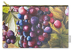 Wine Grapes On A Vine Carry-all Pouch
