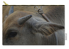 Carry-all Pouch featuring the photograph  Young Buffalo by Michelle Meenawong