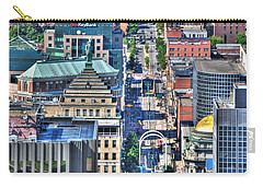 0024 Visual Highs Of The Queen City ...main St... Carry-all Pouch by Michael Frank Jr