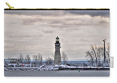 01 Winter Light House Carry-all Pouch by Michael Frank Jr