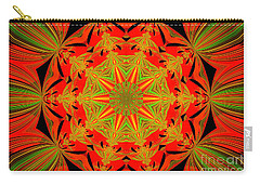 Brighten Your Day.unique And Energetic Art Carry-all Pouch by Oksana Semenchenko