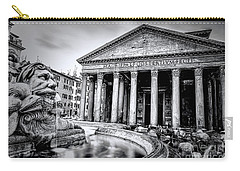 0786 The Pantheon Black And White Carry-all Pouch