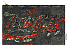 Coca Cola Sign Grungy  Carry-all Pouch by John Stephens
