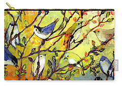 16 Birds Carry-all Pouch by Jennifer Lommers