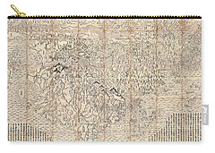 1710 First Japanese Buddhist Map Of The World Showing Europe America And Africa Carry-all Pouch