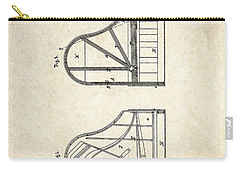 1878 Steinway Grand Piano Forte Patent Art S. 1 Carry-all Pouch