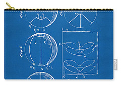 1929 Basketball Patent Artwork - Blueprint Carry-all Pouch by Nikki Marie Smith
