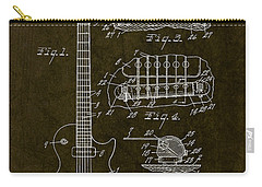 1955 Gibson Les Paul Patent Drawing Carry-all Pouch