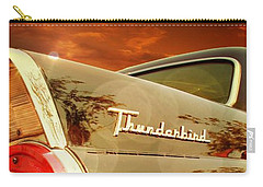 Classic Cars Carry-all Pouch featuring the photograph 1957 Ford Thunderbird  by Aaron Berg