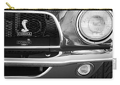 1968 Ford Mustang Fastback 427 Ci Cobra Grille Emblem Carry-all Pouch by Jill Reger