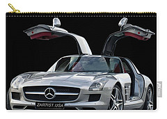 2010 Mercedes Benz Sls Gull-wing Carry-all Pouch by Jack Pumphrey