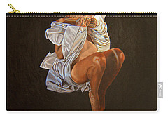 Carry-all Pouch featuring the painting 1 30 Am by Thu Nguyen