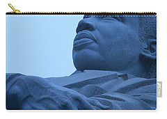 Carry-all Pouch featuring the photograph A Blue Martin Luther King - 1 by Cora Wandel