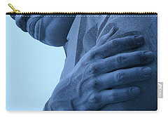 Carry-all Pouch featuring the photograph A Blue Martin Luther King - 2 by Cora Wandel
