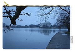 Carry-all Pouch featuring the photograph A Blue Morning For Jefferson by Cora Wandel