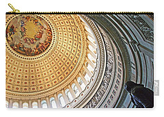 Carry-all Pouch featuring the photograph A Capitol Rotunda by Cora Wandel