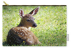 A Fawn On The Lawn Carry-all Pouch