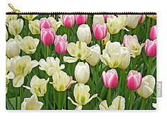 Carry-all Pouch featuring the digital art A Field Of Tulips by Eva Kaufman