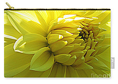 Carry-all Pouch featuring the photograph Golden Dahlia by Dora Sofia Caputo Photographic Art and Design