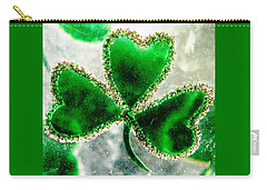 A Shamrock On Ice Carry-all Pouch