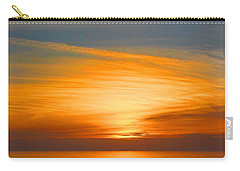 Carry-all Pouch featuring the photograph A Walk At Sunset by Mariarosa Rockefeller