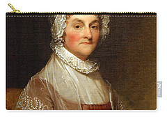 Carry-all Pouch featuring the photograph Abigail Smith Adams By Gilbert Stuart by Cora Wandel