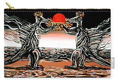 Carry-all Pouch featuring the painting Abiogenic Memetics  by Ryan Demaree