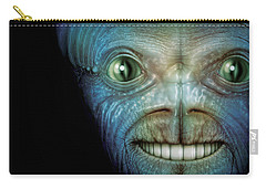 Alien Face Carry-all Pouch