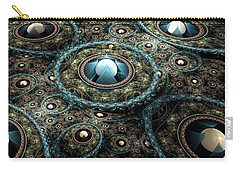 Carry-all Pouch featuring the digital art Alien Station by Svetlana Nikolova