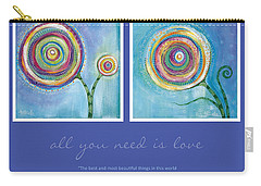 All You Need Is Love Carry-all Pouch by Tanielle Childers