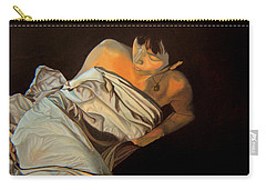 Carry-all Pouch featuring the painting 1 Am by Thu Nguyen