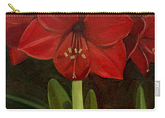Carry-all Pouch featuring the painting Amaryllis by Nancy Griswold