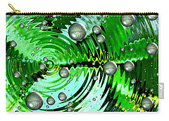 Amazing. Abstract Art. Green Grey  Blue Yellow  Carry-all Pouch by Oksana Semenchenko
