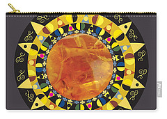 Amber Mandala Carry-all Pouch
