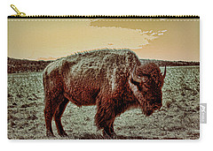 American Buffalo  Carry-all Pouch by Tony Grider