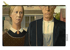 American Gothic Carry-all Pouch by Grant Wood