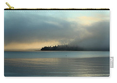 An Island In Fog Carry-all Pouch by E Faithe Lester