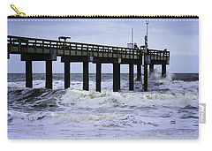 Carry-all Pouch featuring the photograph Angry Atlantic by Judy Hall-Folde